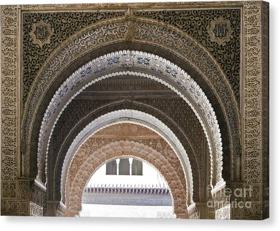 Alhambra Canvas Print - Alhambra Arches by Jane Rix
