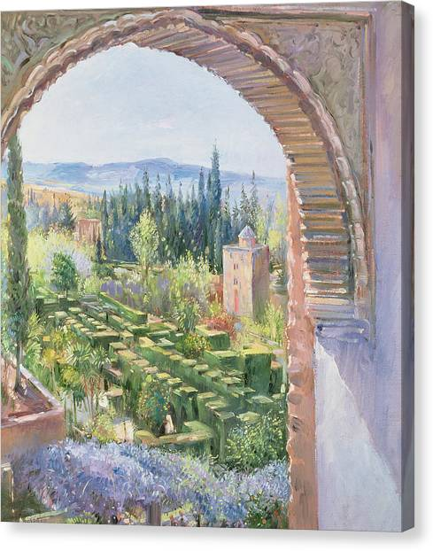 Alhambra Canvas Print - Alhambra Gardens by Timothy Easton