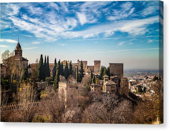 Alhambra Over Granada Canvas Print