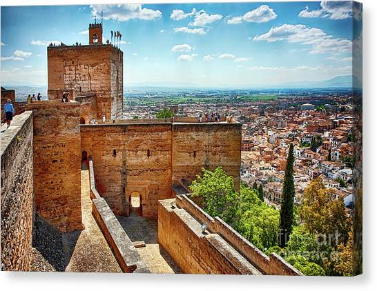 Alhambra Tower Canvas Print