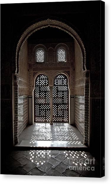 Alhambra Window Canvas Print