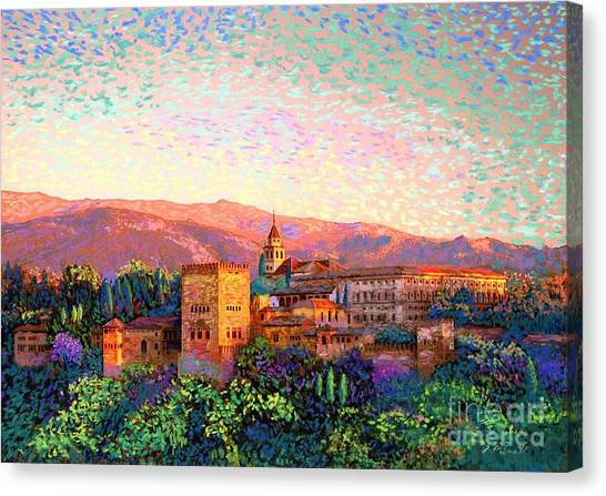 Medieval Art Canvas Print - Alhambra, Granada, Spain by Jane Small