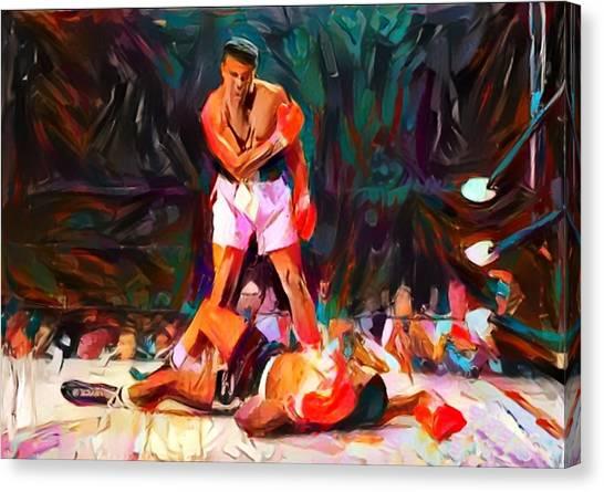Joe Frazier Canvas Print - Ali by Paul Van Scott