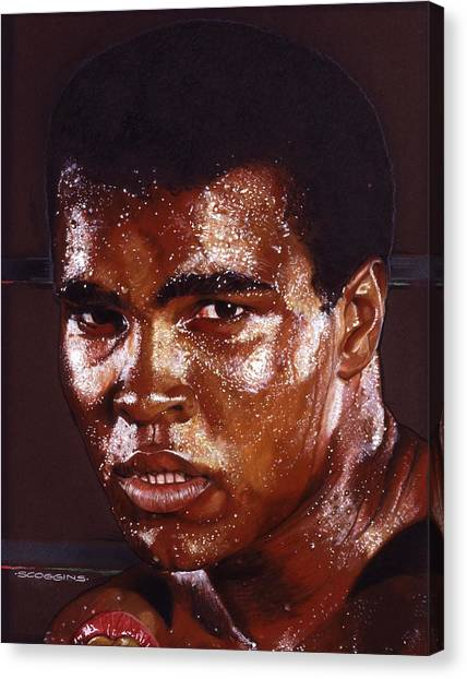 Muhammad Ali Canvas Print - Ali by Timothy Scoggins