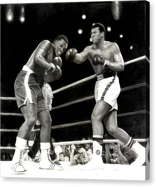 Joe Frazier Canvas Print - Ali Vs. Frazier 3 by Noe Peralez