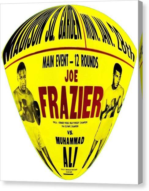 Joe Frazier Canvas Print - Ali Vs Frazier II by Charlie Ross