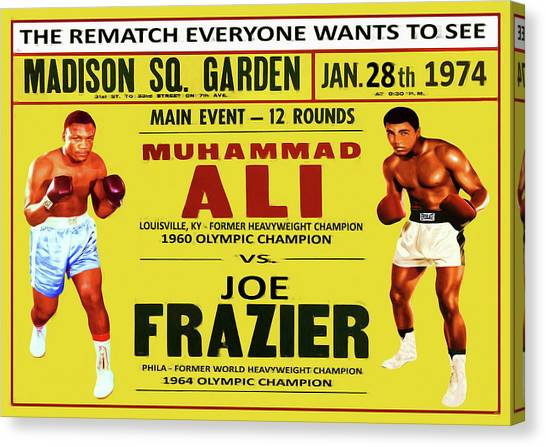 George Foreman Canvas Print - Ali Vs Frazier II by Charlie Ross