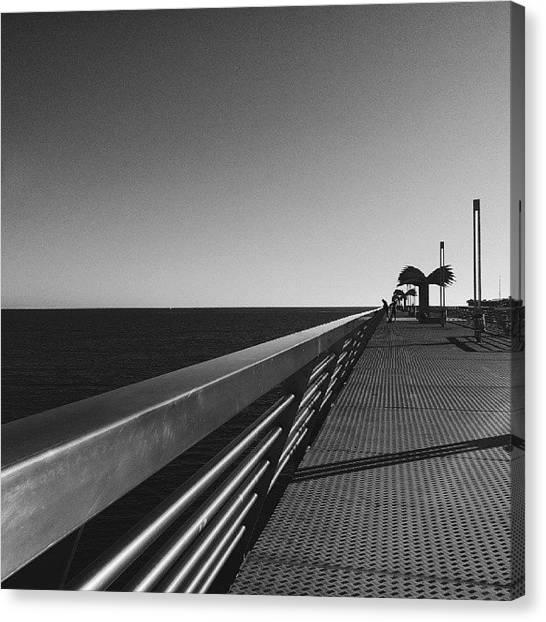 Shapes Canvas Print - #alicante #mediterranean #spain  #pier by Michelle Olaya