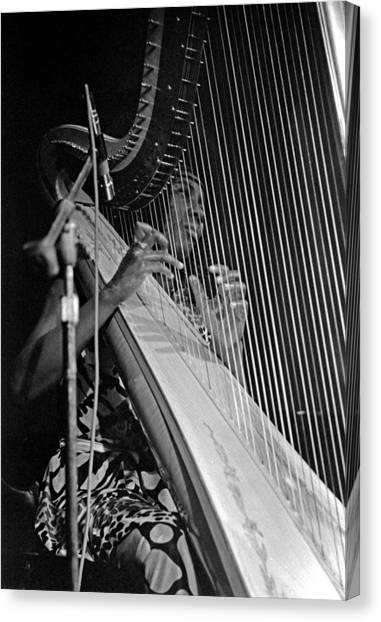 Alice Coltrane On Harp Canvas Print