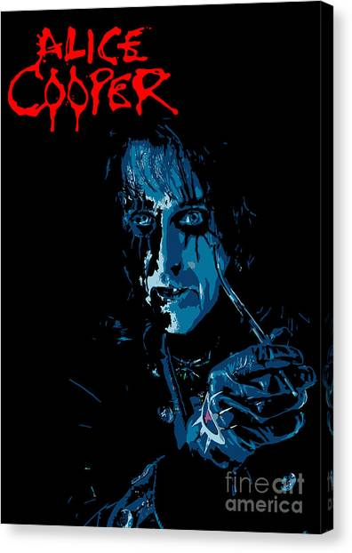 Alice Cooper Canvas Print - Alice Cooper by Geek N Rock