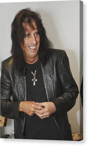 Alice Cooper Canvas Print - Alice Cooper Happy by Jill Reger