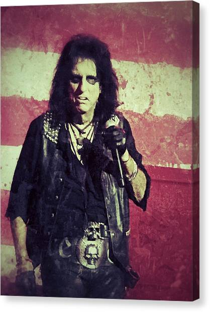 Alice Cooper Canvas Print - Alice by Dave Bowman
