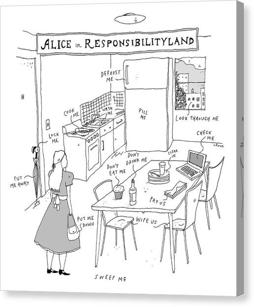Alice In Responsibilityland Canvas Print
