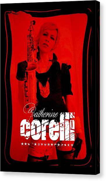 Resident Evil Canvas Print - Alice Sax Red by Cat Corelli