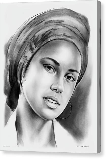 Rhythm And Blues Canvas Print - Alicia Keys 2 by Greg Joens
