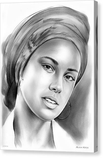 Rhythm And Blues Canvas Print - Alicia Keys by Greg Joens