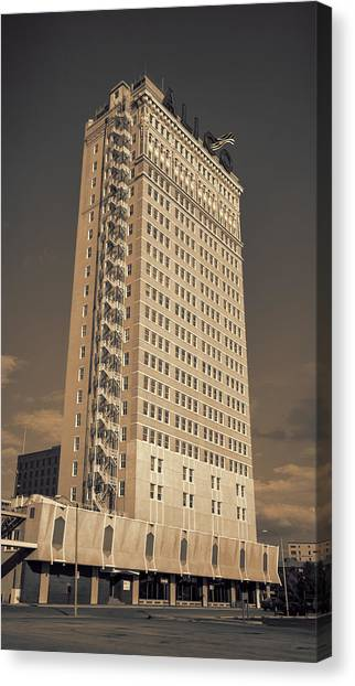 Baylor University Canvas Print - Alico Building #2 by Stephen Stookey