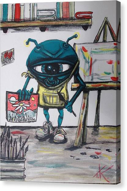 Alien Artist Canvas Print