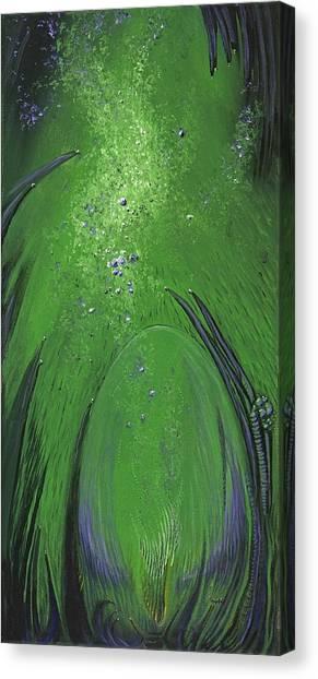 Alien Egg In The Ocean Canvas Print