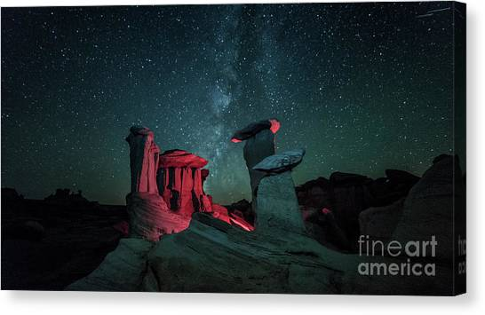 Canvas Print featuring the photograph Alien Landscape by Brian Spencer