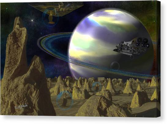 Alien Repose Canvas Print