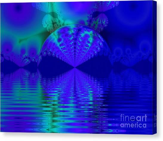 Alien Sunset Over Fantasy Lake Canvas Print