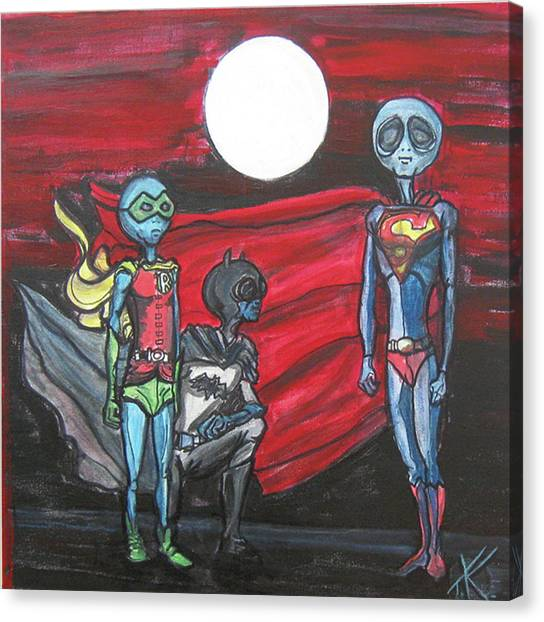Alien Superheros Canvas Print