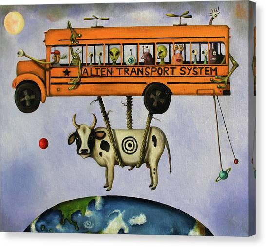 Alien Eyes Canvas Print - Alien Transport System by Leah Saulnier The Painting Maniac
