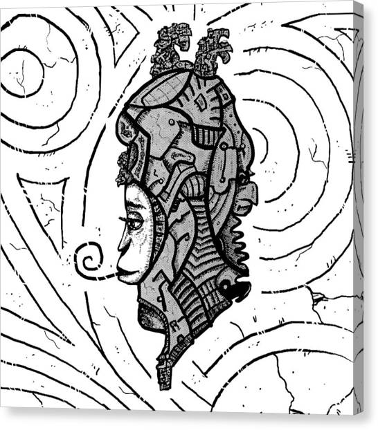 Alien Woman Canvas Print