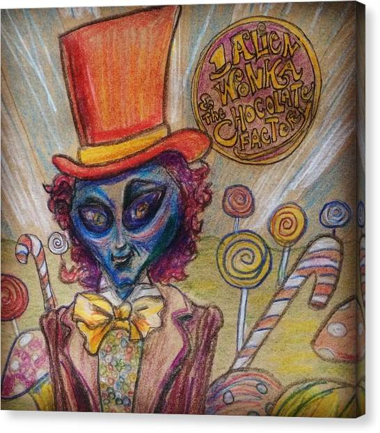 Alien Wonka And The Chocolate Factory Canvas Print