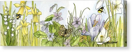 Alive In A Spring Garden Canvas Print