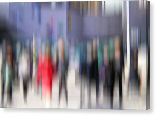 Alive In The City 3 - Going To The Train Canvas Print
