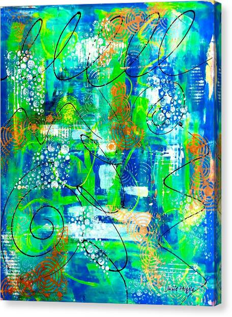 All A Whirl Canvas Print