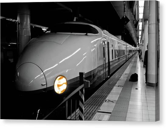 Bullet Trains Canvas Print - All Aboard by Sebastian Musial