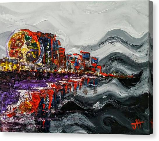 Canvas Print featuring the painting All Along The Grand Strand by Jennifer Hotai