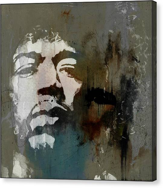 Jimi Hendrix Canvas Print - All Along The Watchtower  by Paul Lovering