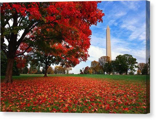 Washington Monument Canvas Print - All American by Bernard Chen