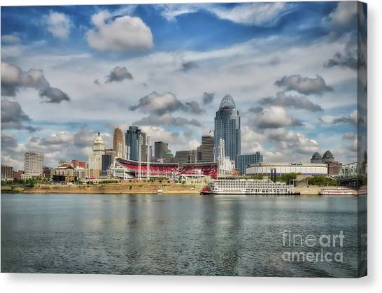 Canvas Print featuring the photograph All American City 2 by Mel Steinhauer