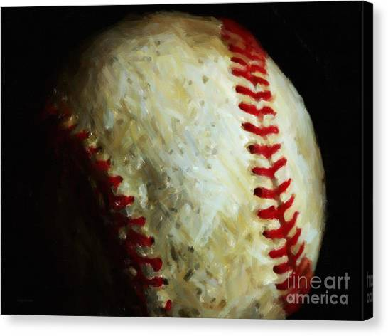 La League Canvas Print - All American Pastime - Baseball - Painterly by Wingsdomain Art and Photography