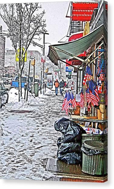 All American Snow Canvas Print