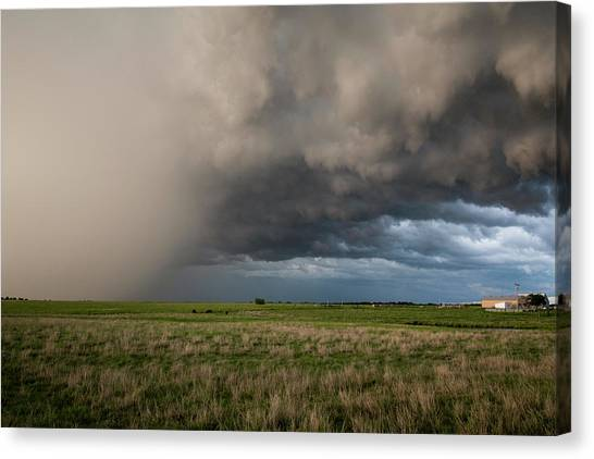 Hailstorms Canvas Print - All Hail Breaks Loose by Eugene Thieszen