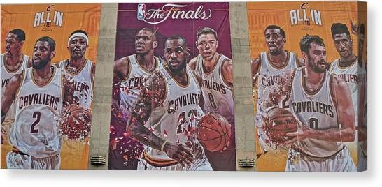 Kyrie Irving Canvas Print - All In For The 2016 Finals by Frozen in Time Fine Art Photography