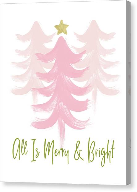 Winter Canvas Print - All Is Merry And Bright- Art By Linda Woods by Linda Woods
