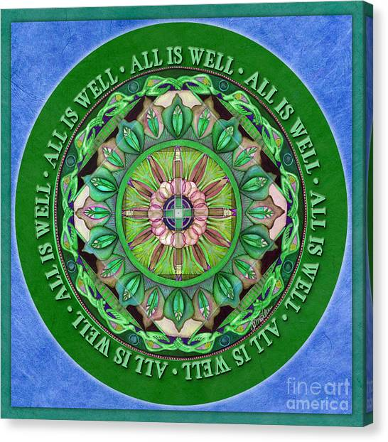 All Is Well Mandala Prayer Canvas Print