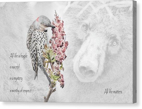Black Bears Canvas Print - All Life Matters by Everet Regal
