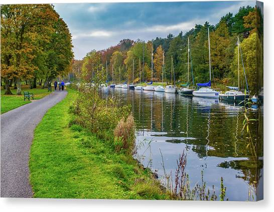 All Moored Up Canvas Print