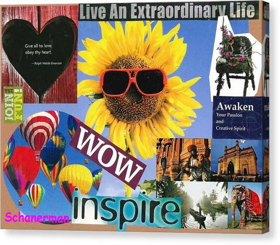 All Of Life Can Inspire Canvas Print