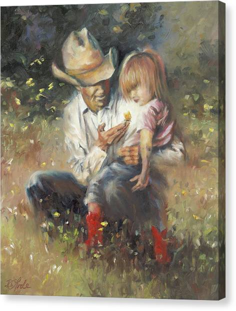 Cowboy Boots Canvas Print - All Of Life's Little Wonders by Mia DeLode