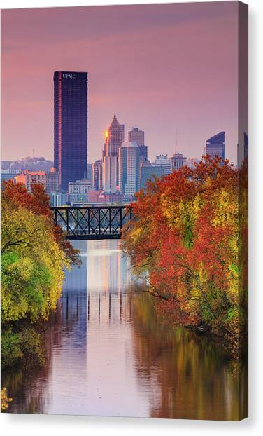 All Pittsburgh Pink  Canvas Print