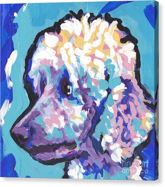 Poodles Canvas Print - All Poodle by Lea S